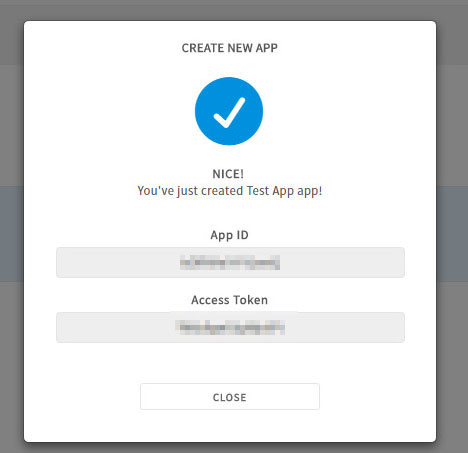 app id and secret